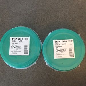 New  2 IKEA 365+ lunch bowl with dry compartment